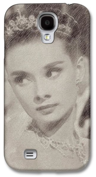 Audrey Hepburn Hollywood Actress Galaxy S4 Case by Frank Falcon