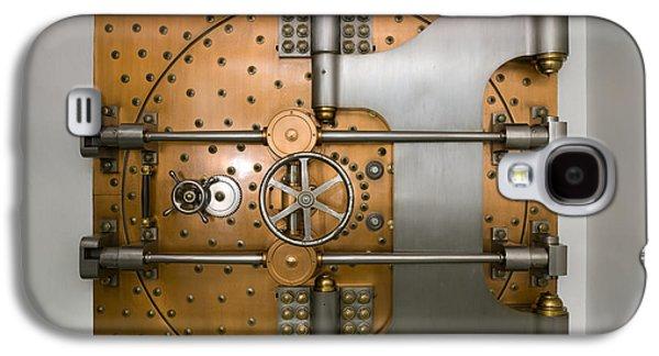 Bank Vault Door Exterior Galaxy S4 Case by Adam Crowley