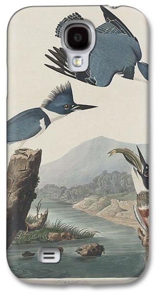 Belted Kingfisher Galaxy S4 Case by Anton Oreshkin
