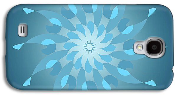 Blue Abstract Star For Home Decoration Galaxy S4 Case