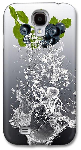 Blueberry Splash Galaxy S4 Case by Marvin Blaine