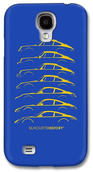 Boxer Sports Car Silhouettehistory Galaxy S4 Case by Gabor Vida