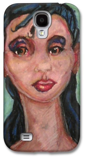 African-american Pastels Galaxy S4 Cases - Brown Eyes Galaxy S4 Case by Derrick Hayes