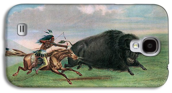 Buffalo Hunt Galaxy S4 Case by George Catlin