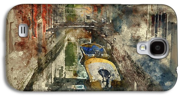 Canals Of Venice Digital Watercolor On Photograph Galaxy S4 Case