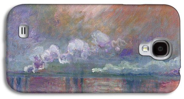 Abstract Movement Galaxy S4 Cases - Charing Cross Bridge Galaxy S4 Case by Claude Monet