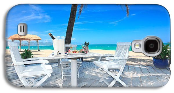 Table Wine Galaxy S4 Cases - Dinner on the beach Galaxy S4 Case by MotHaiBaPhoto Prints