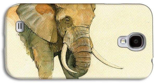 Elephant Painting           Galaxy S4 Case by Juan  Bosco