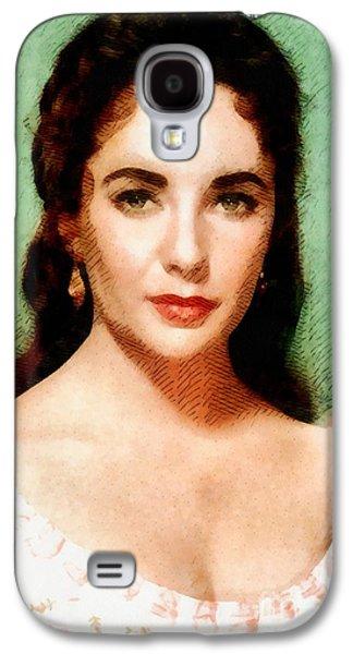 Elizabeth Taylor Hollywood Actress Galaxy S4 Case by John Springfield