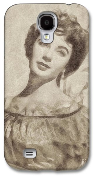 Elizabeth Taylor, Vintage Hollywood Legend By John Springfield Galaxy S4 Case by John Springfield