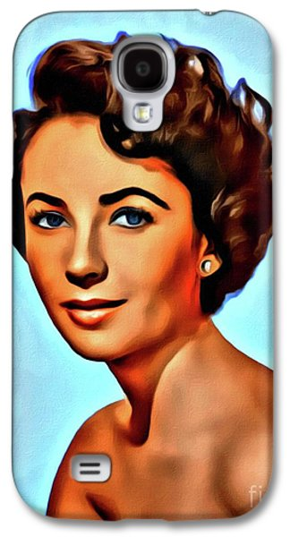 Elizabeth Taylor, Vintage Hollywood Legend Galaxy S4 Case by Mary Bassett
