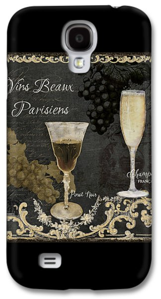 Fine French Wines - Vins Beaux Parisiens Galaxy S4 Case by Audrey Jeanne Roberts