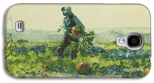 For To Be A Farmer's Boy Galaxy S4 Case by Winslow Homer
