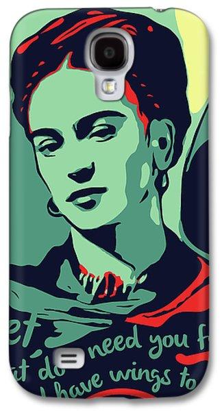 Folk Art Galaxy S4 Case - Frida Kahlo by Greatom London
