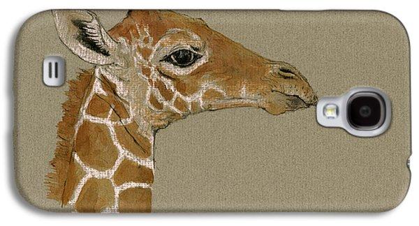 Giraffe Head Study  Galaxy S4 Case