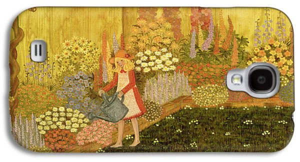 Girl In The Garden Galaxy S4 Case by Ditz