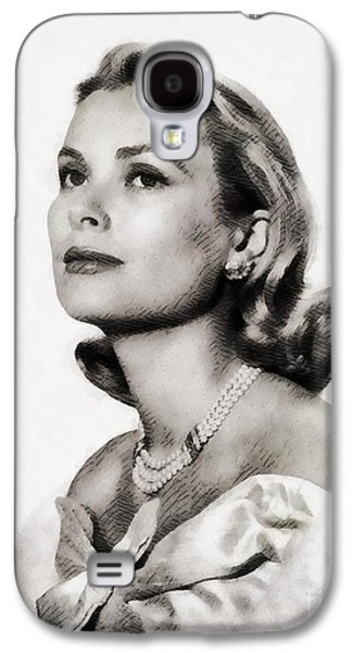 Grace Kelly, Vintage Hollywood Actress Galaxy S4 Case by John Springfield