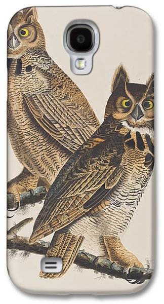 Great Horned Owl Galaxy S4 Case by John James Audubon