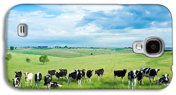 Cow Galaxy S4 Case - Happy Cows by Todd Klassy