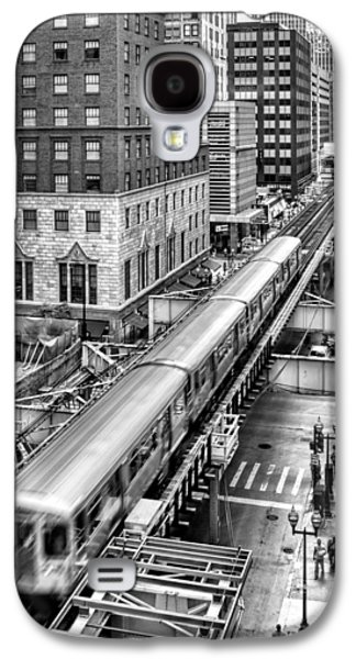Historic Chicago El Train Black And White Galaxy S4 Case by Christopher Arndt