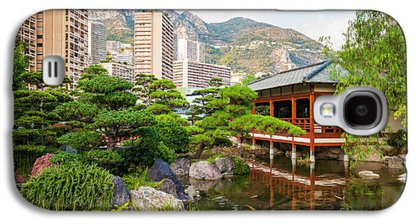 Japanese Garden In Monte Carlo. Galaxy S4 Case by Elena Elisseeva