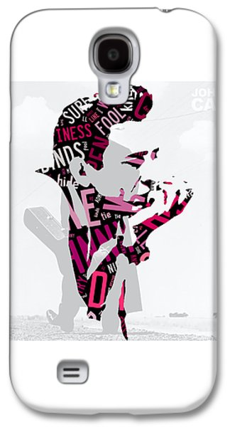 Johnny Cash Song Lyric I Walk The Line Galaxy S4 Case by Marvin Blaine