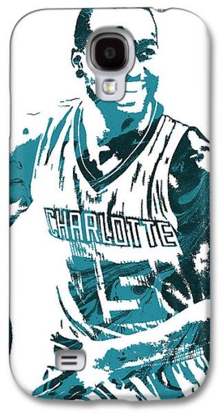 Kemba Walker Charlotte Hornets Pixel Art 3 Galaxy S4 Case by Joe Hamilton