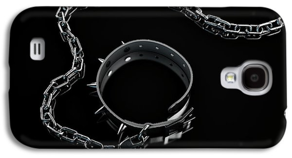 Leather Studded Collar And Chain Galaxy S4 Case by Allan Swart