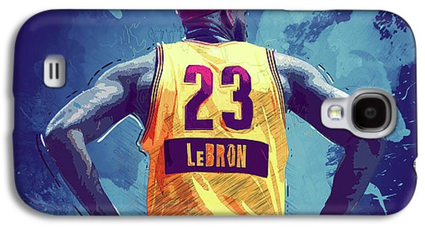 Lebron James Galaxy S4 Case by Semih Yurdabak