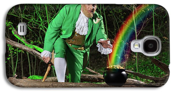 Leprechaun With Pot Of Gold Galaxy S4 Case by Oleksiy Maksymenko