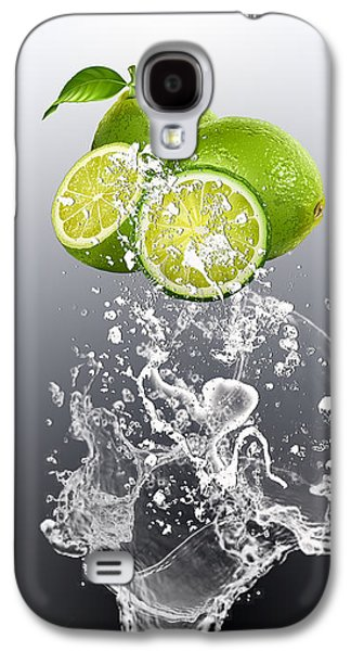 Lime Splash Galaxy S4 Case by Marvin Blaine