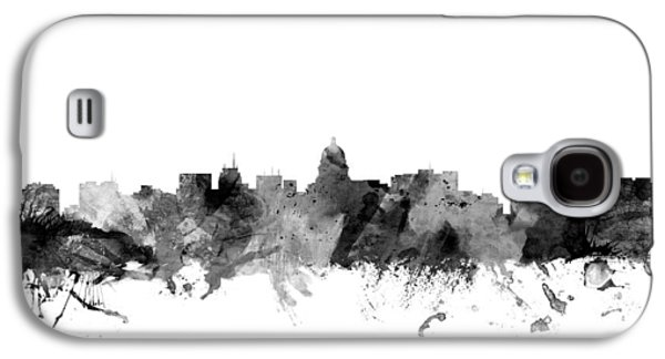 Madison Wisconsin Skyline Galaxy S4 Case by Michael Tompsett