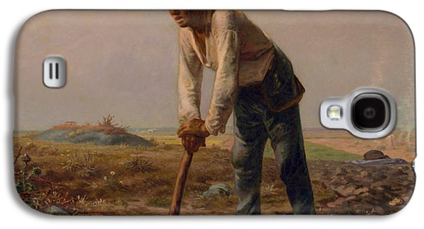 Man With A Hoe Galaxy S4 Case by Jean Francois Millet