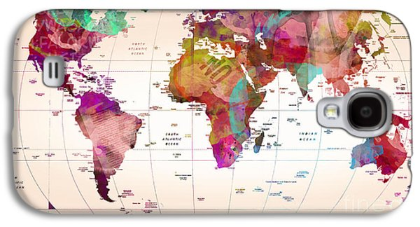 Map Of The World   Galaxy S4 Case
