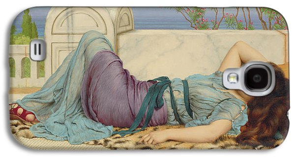 Mischief And Repose Galaxy S4 Case by John William Godward