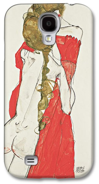 Mother And Daughter Galaxy S4 Case by Egon Schiele