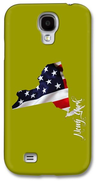 New York Map Collection Galaxy S4 Case by Marvin Blaine