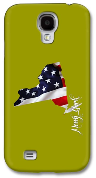New York Map Collection Galaxy S4 Case