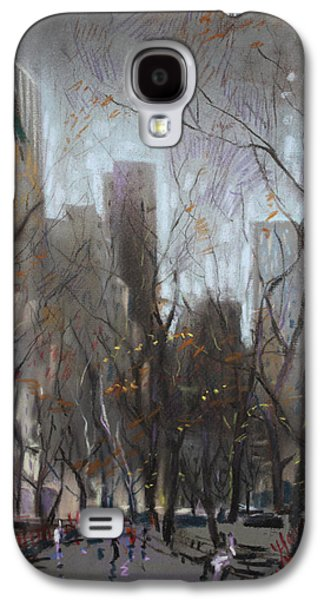 Autumn Trees Galaxy S4 Cases - NYC Central Park Galaxy S4 Case by Ylli Haruni