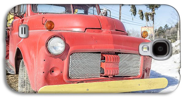Old Red Farm Truck Galaxy S4 Case