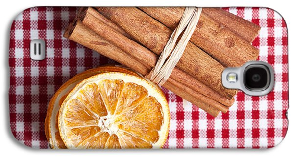 Orange And Cinnamon Galaxy S4 Case by Nailia Schwarz