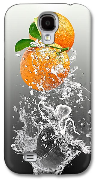 Orange Splash Galaxy S4 Case
