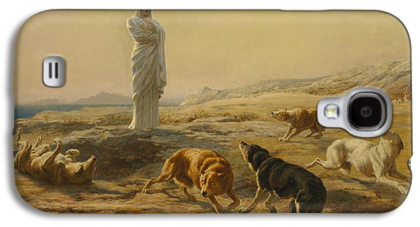 Pallas Athena And The Herdsman's Dogs Galaxy S4 Case by Briton Riviere