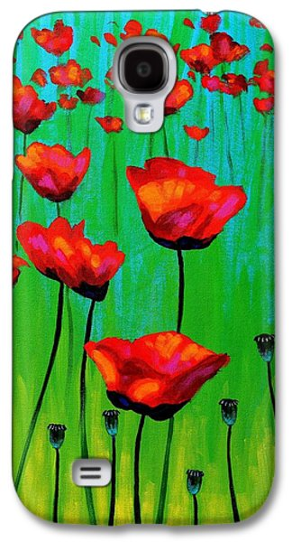 Poppy Dance Galaxy S4 Case by John  Nolan