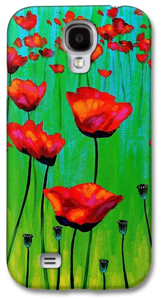 Poppy Dance Galaxy S4 Case by John  Nolan