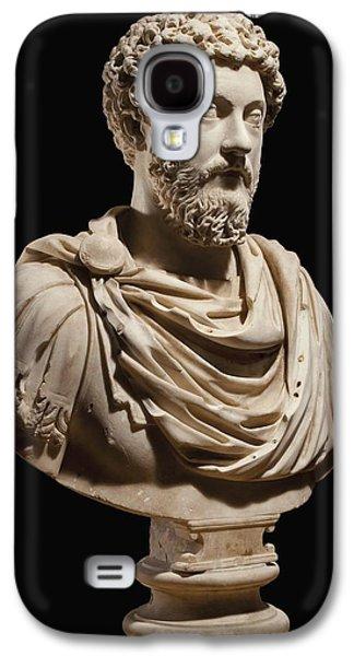 Portrait Bust Of Emperor Marcus Aurelius Galaxy S4 Case by Roman School