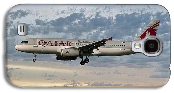 Jet Galaxy S4 Case - Qatar Airways Airbus A320-232 by Smart Aviation