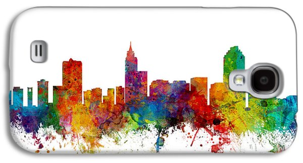 Raleigh North Carolina Skyline Galaxy S4 Case by Michael Tompsett
