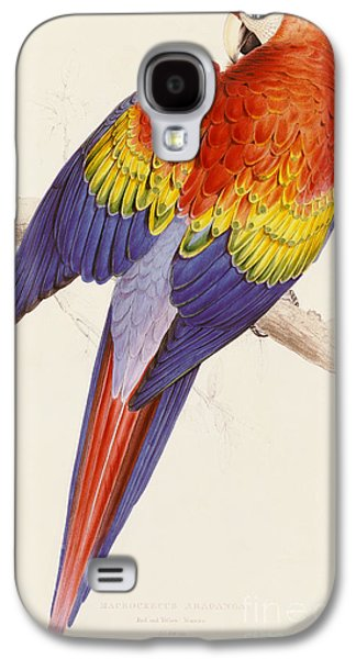 Red And Yellow Macaw Galaxy S4 Case