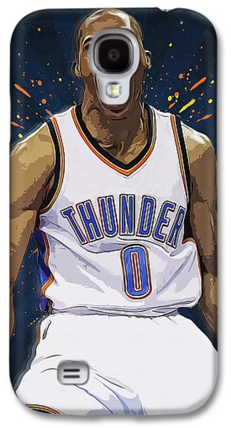 Russell Westbrook Galaxy S4 Case by Semih Yurdabak